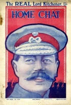 A smiling Kitchener on the cover of Home Chat in 1915