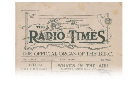 Masthead of the 1923 first issue of Radio Times (RT Archive)