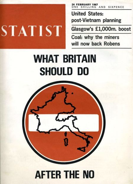 A cover from 1967 that could be in the shops today after the Brexit vote: Statist magazine from 24 February 1967