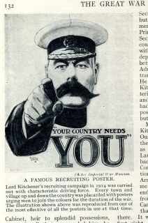 The Kitchener poster shown in the third part of Churchill's Great War partwork in 1933