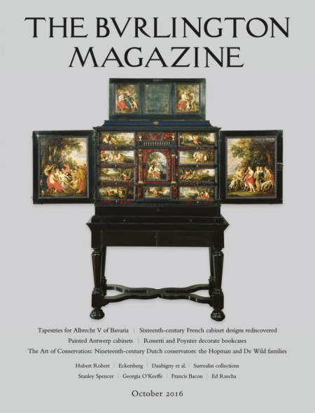 Cover of the latest issue of The Burlington Magazine