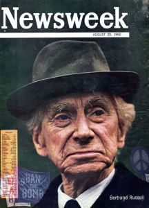 Mathematician, philosopher and peace activist Bertrand Russell on the cover of Newsweek in 1962