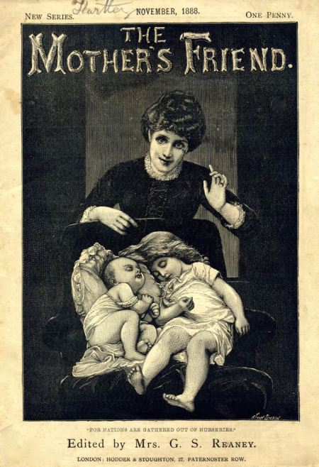 Mother's Friend magazine with a John Swain cover engraving from November 1888