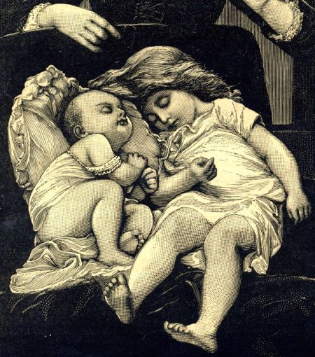 The John Swain engraving of sleeping children shows his skill