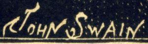 John Swain's signature in 1888