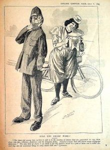 Cartoon by Walter Groves from Cycling, 7 July 1899