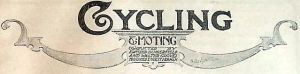 Titlepiece from Cycling & Moting, 20 December 1905