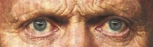 David Moyes's eyes cropped from an issue of the Sun in 2014 (April 23)