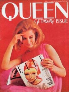 Queen magazine cover  from 1963 showing Elle
