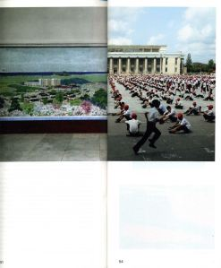 Real Review magazine: pages 51 and 54 folded to make a spread of juxtaposed images
