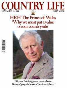 Country Life magazine front cover of Prince Charles, 12 November 2014