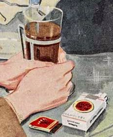 French coffee and Lucky Strike cigarettes would have been luxuries in wartime Britain - rationing would not end until 1952