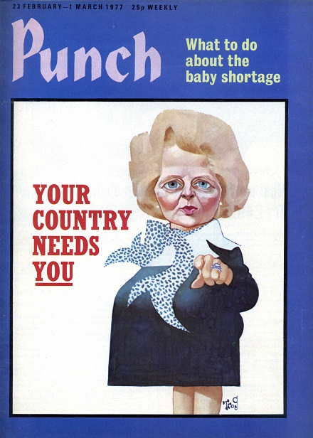 How Trog portrayed Thatcher for Punch in 1977 (February 23)