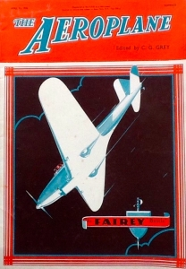 An Aeroplane magazine cover of a Fairey Battle from 13 April 1935