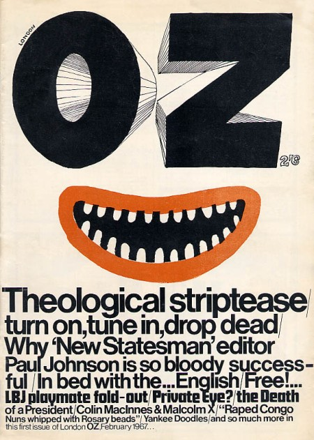 The first issue of underground magazine Oz in February 1967