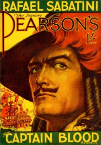 Raphael Sabitini's Captain Blood on the cover of Pearsons, January 1930