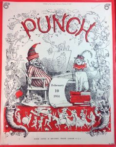 In 1954, Punch was still using a front cover that was little different from Dicky Doyle's design from a century earlier