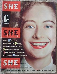 Three logos on the cover of the first issue of She in March 1955