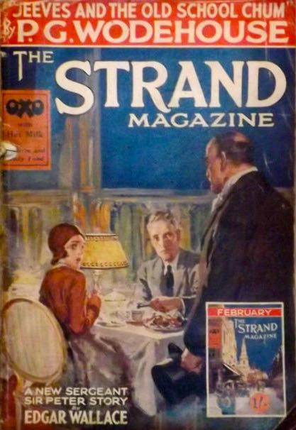 The Strand magazine cover from February 1930 - note the mini cover at the bottom right