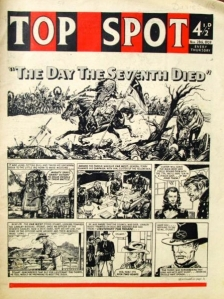 New title design and a cartoon strip cover for Top Spot of 28 November 1959