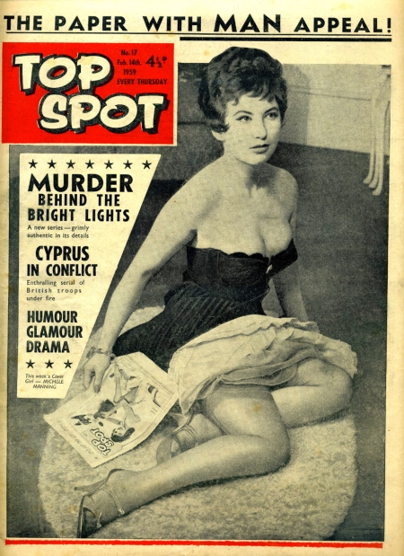 Top Spot magazine with a self referential cover design for 14 February 1959