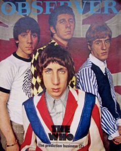 The Who were pop's front men for the Mod scene, as in this 1966 Observer Magazine cover