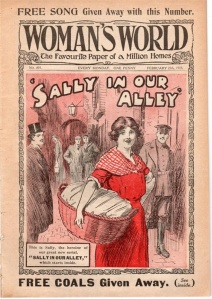 A First World War Woman's World bases its cover on on 'Sally in Our Alley'