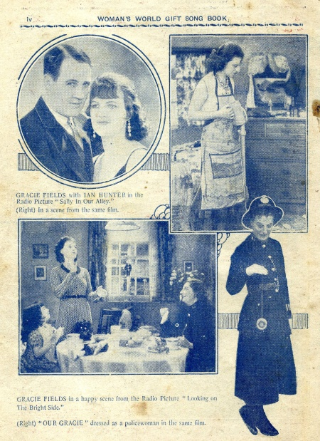 Stills from Gracie Fields' films in the song book