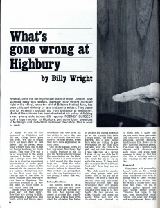 What's gone wrong at Highbury - what every Arsenal fan wants to know