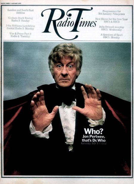 Ray Rathborne's Radio Times cover of Jon Pertwee as Dr Who