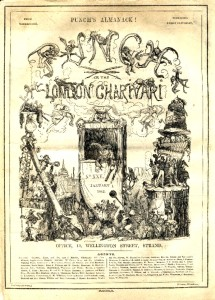The cover of Punch magazine's almanac of 1842 by Halbot K Browne ('Phiz')