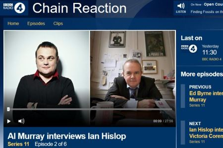Private Eye editor Ian Hislop is interviewed by Al Murray on Chain Reaction