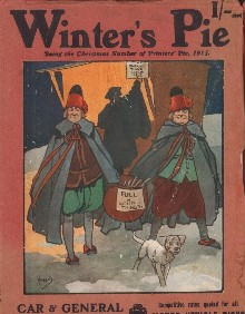 Winter's Pie, an edition of Printers' Pie, magazine cover from 1913. The cover is by John Hassall