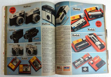 The cameras spread from Argos catalogue No 6 from 1976 sold on eBay for £149