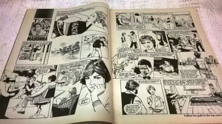 Madonna strip cartoon of her life 1986