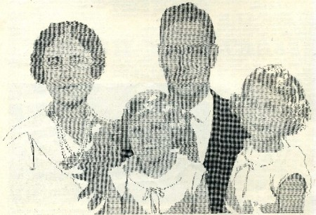 Type portrait of the royal family composed on a Monotype machine. Published in Newspaper World magazine in 1937