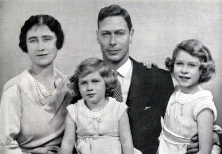 george vi royal family portrait. margaret. elizabeth. 1937