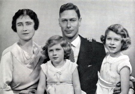 george vi royal family portrait. margaret. elizabeth. 1937