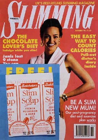 Sylvie Fleury's Slim a soup artwork based on a Slimming magazine front cover form October 1993