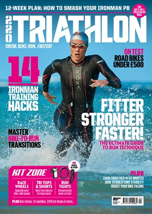 Triathlon magazine cover from April 2018