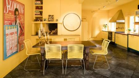 Verner Panton's yellow kitchen in the Sunday Times Home supplement (4 March 2018, pp20-21)