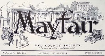 The masthead of Mayfair magazine