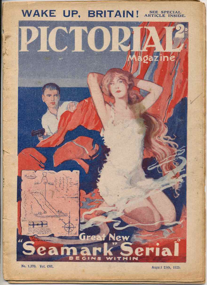 Pictorial Magazine front cover by Thomas Heath Robinson for a serial by Austin J. Small, 'Seamark'