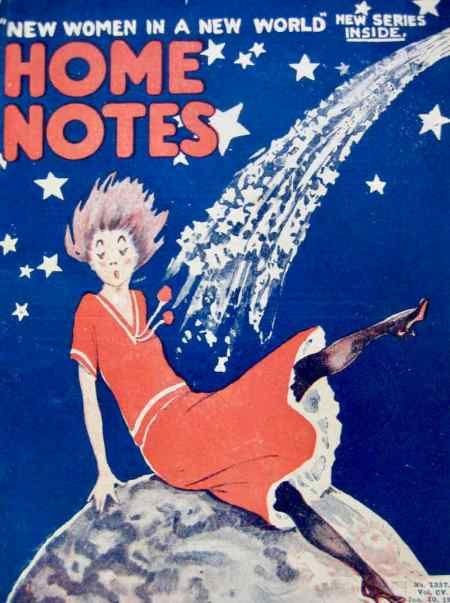 Home Notes magazine cover in 1910 had high hoped for 'New Women in a New World'
