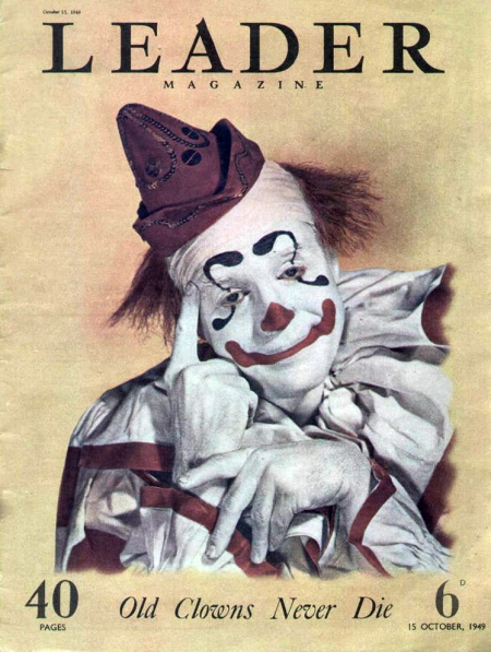leader-1949-october-15-clown-Christmas-magazine-cover