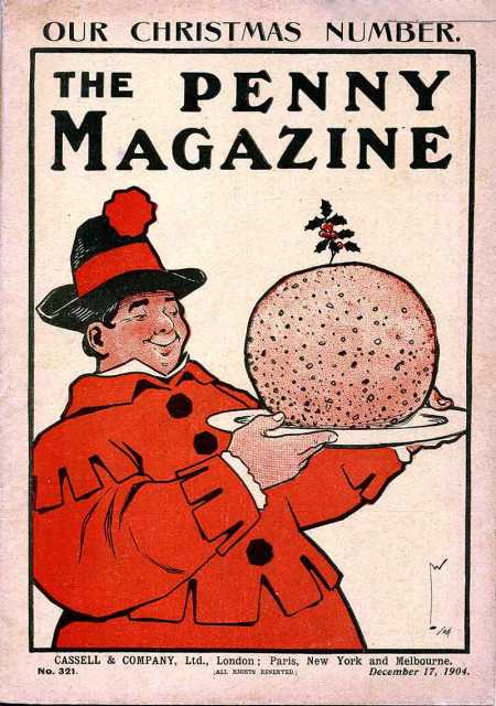 penny-magazine-cover-1904-december-17-christmas-pudding-lawson-wood