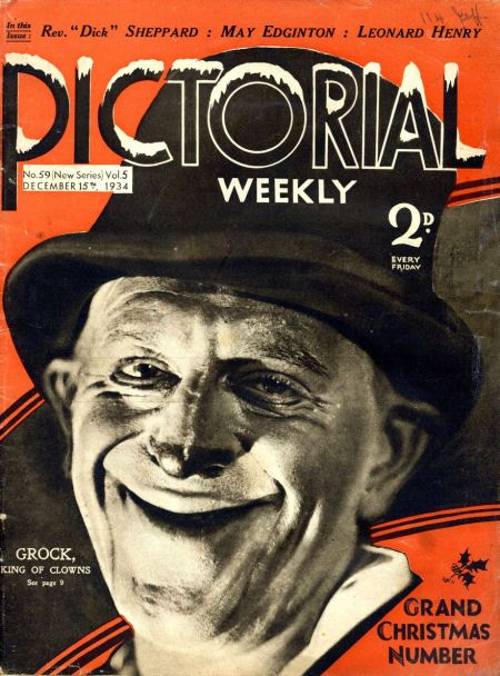 Pictorial-weekly-1934-december-12-grock-the-clown-christmas-magazine-cover