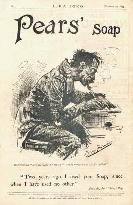Pear's soap took the back page of Lika Joko with its Harry Furniss advertisement