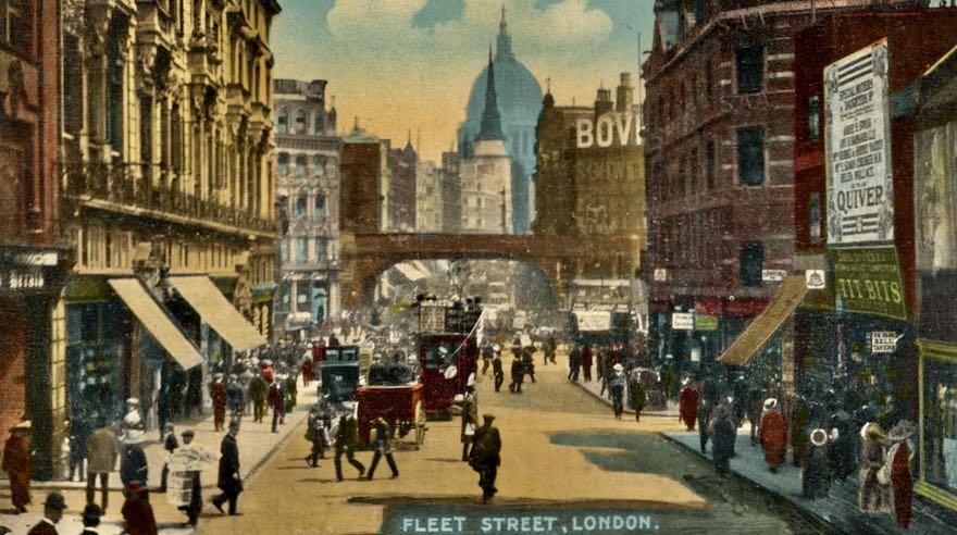 Fleet-Street-postcard